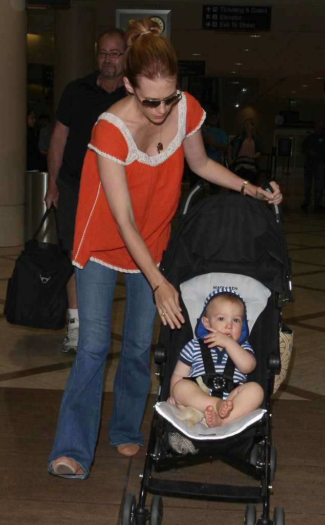 January Jones and Xander Jones were spotted at LAX.