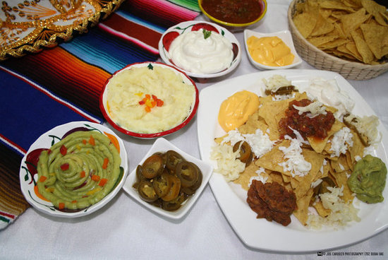 Nachos Platter with Dips