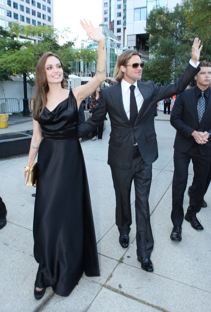 Angelina Jolie joined Brad Pitt for his 2011 Moneyball premiere.