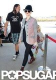 Gwen Stefani and Kingston Rossdale traveled out of LAX.