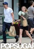Kirsten Dunst and Garrett Hedlund went grocery shopping in NYC.