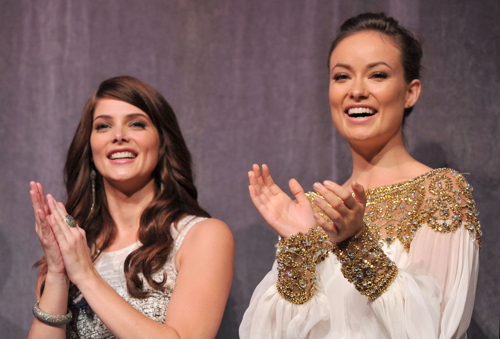 Ashley Greene and Olivia Wilde cheered with the crowd at the 2011 screening of Butter.