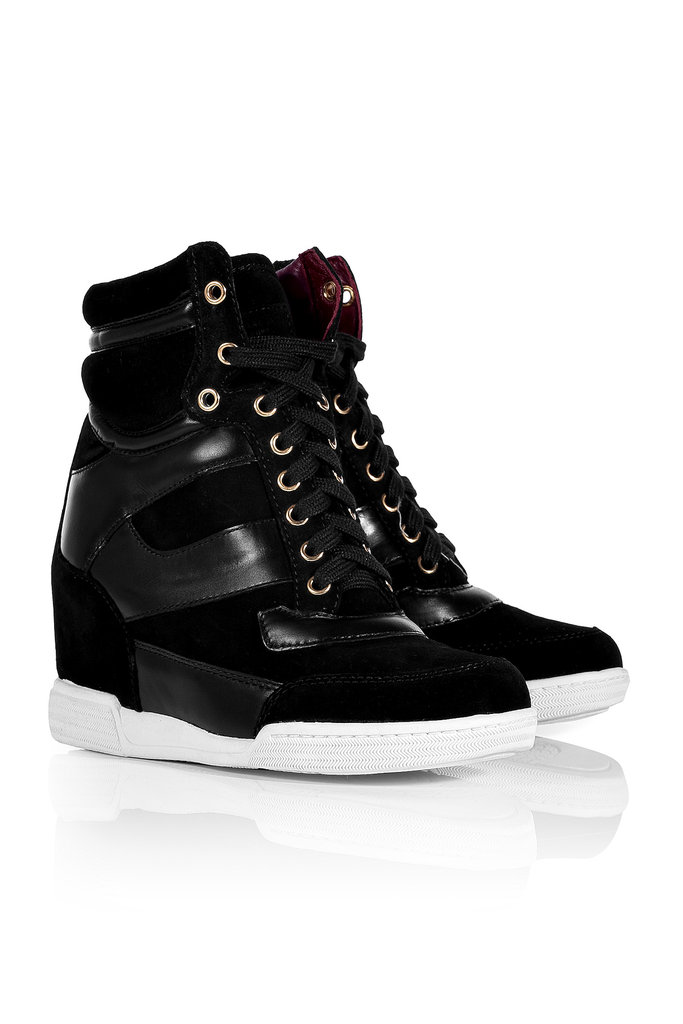 Speaking of high-tops, I missed the first go-around this Summer, but I'm thinking these Marc Jacobs Kicks ($350), can replace my dressed-down ankle boots  — and I'm betting they'll look pretty amazing with a pair of leather skinnies. — Hannah Weil, associate editor