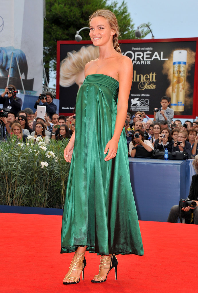 Fiammetta Cicogna had us seeing silky green when she arrived at The Master premiere.