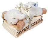 Cloud B Baby Sleep Sheep With Rattle and Spill Cloths ($18)
