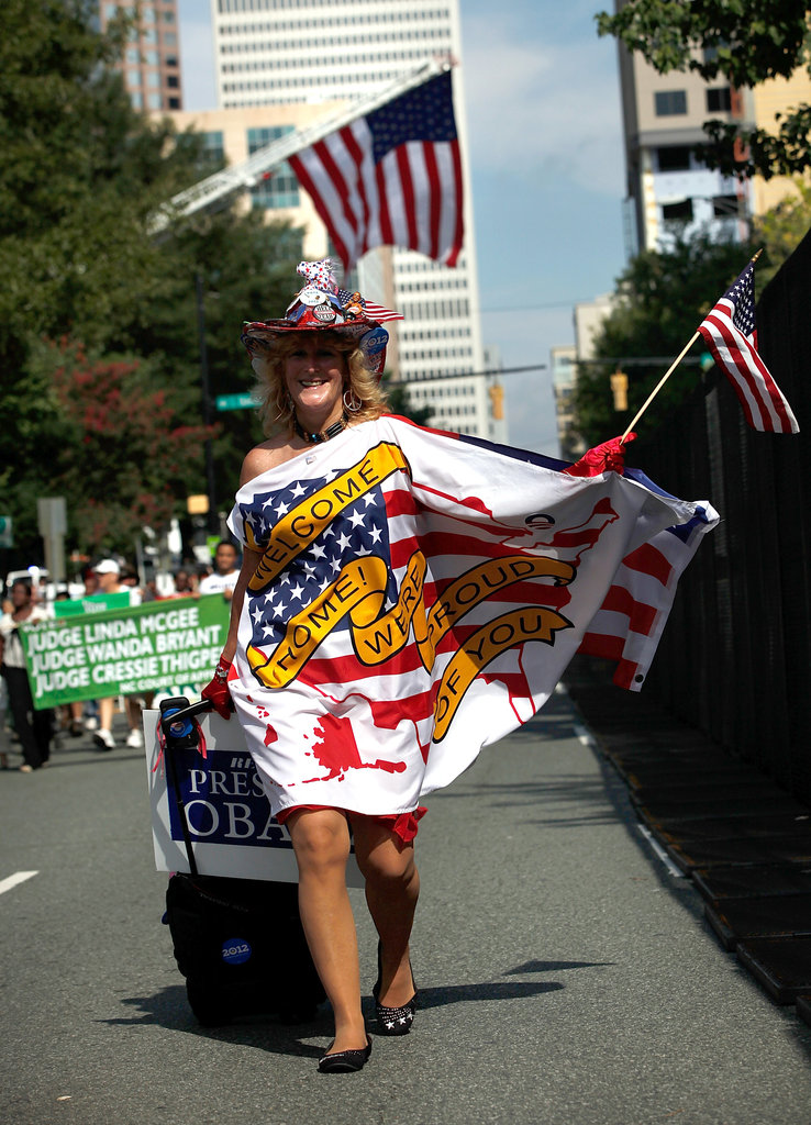This lady went all out with her outfit during the Charlotte Labor Day Parade.
