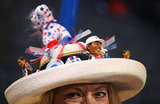 Decorated hats filled up the DNC.