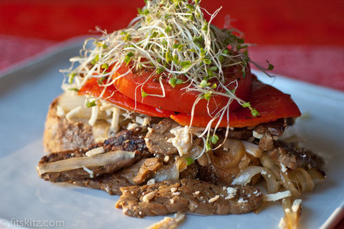 Maple Tempeh Open Faced Sandwich