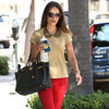 Jordana Brewster Wearing Red Jeans