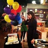Whitney Cummings celebrated her 30th birthday on the set of Whitney. Source: Instagram user therealwhitney