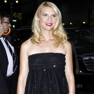 Claire Danes Late Show Pictures in NYC