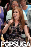 Isla Fisher got animated on Good Morning America.