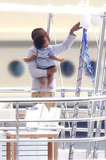 Jay-Z and Blue hung out on a yacht in the South of France.