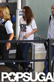 Kristen Stewart caught a flight to Toronto.