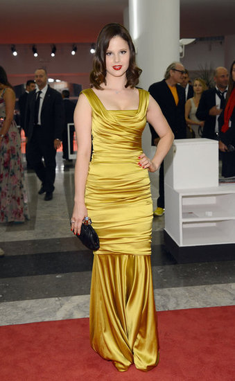 Rachel Korine looked lovely in gold.