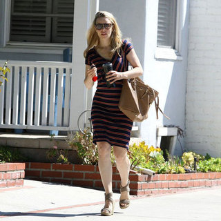 Rachel McAdams Striped Dress Pictures in LA