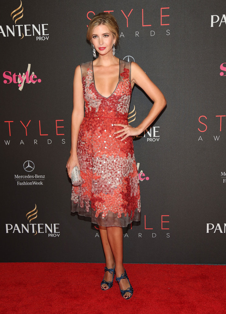 Ivanka Trump chose an embellished red dress for the Style Awards.