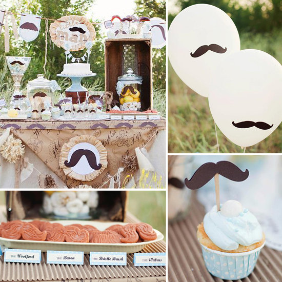 A Little Man Mustache Baby Shower