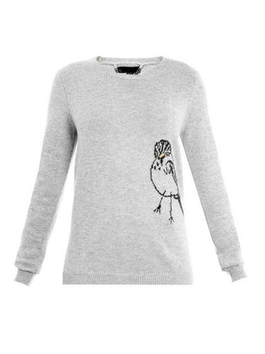 Bird intarsia-knit sweater | Burberry Prorsum | Matchesfashion...