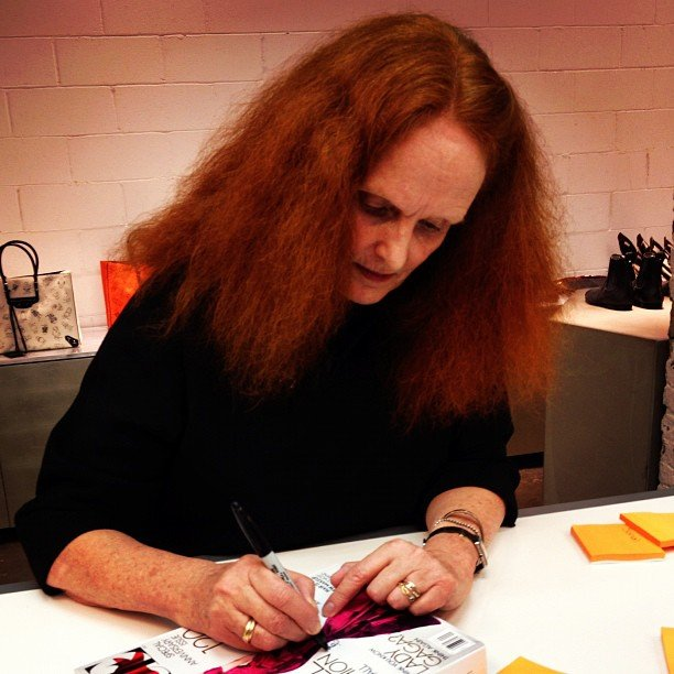 Grace Coddington at Balenciaga