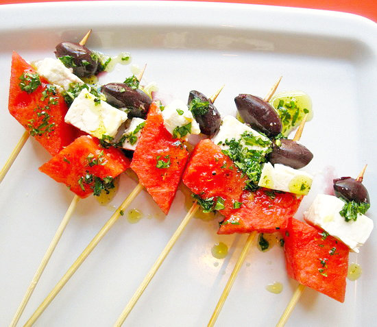 Watermelon Feta Skewers 