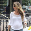 Gisele Bundchen Brown Suede Bag