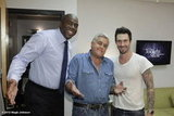 Magic Johnson posed with Jay Leno and Adam Levine backstage at The Tonight Show. Source: Magic Johnson on WhoSay