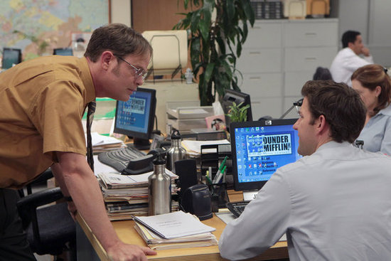 Does Dwight ever wash that shirt or does he have a whole closet full of mustard yellow button-ups?