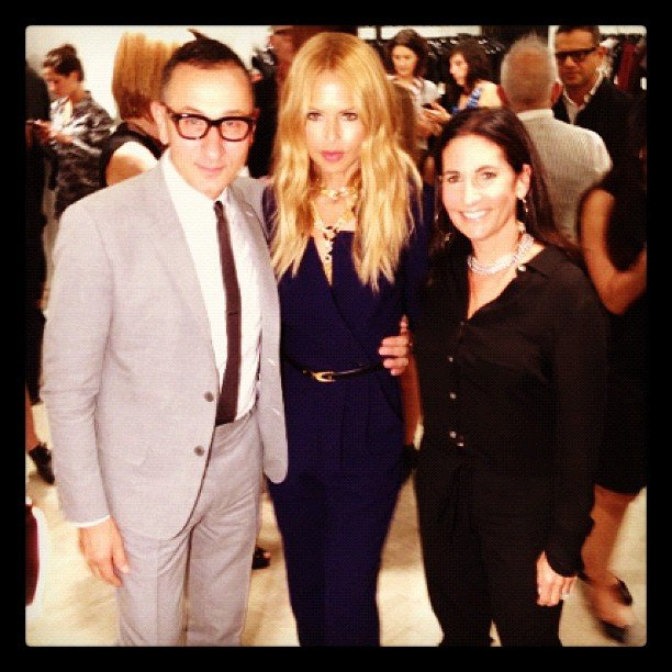 Rachel Zoe crossed paths with Gilles Mendel and Bobbi Brown in NYC. Source: Instagram user rachelzoe