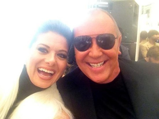 Debra Messing met up with her designing friend Michael Kors on FNO.  Source: Instagram user DebraMessing