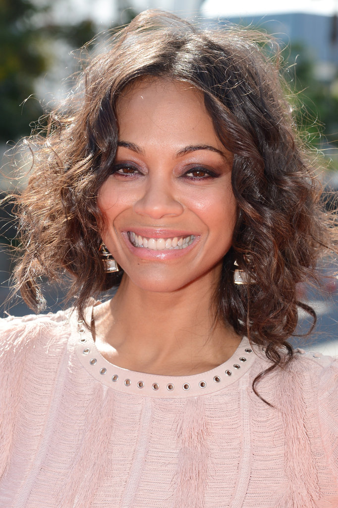 Zoe Saldana was all smiles at the VMAs.
