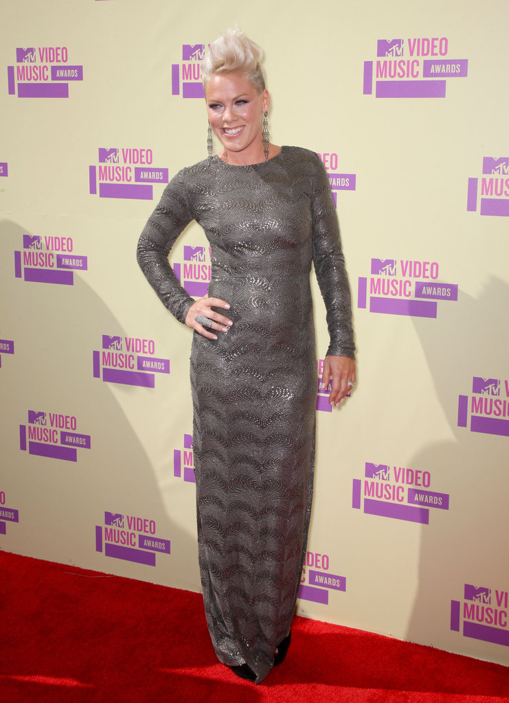 Pink posed on the red carpet.