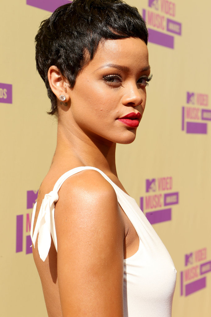 Rihanna rocked white on the red carpet.