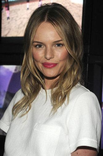 Kate Bosworth wore pink lipstick.