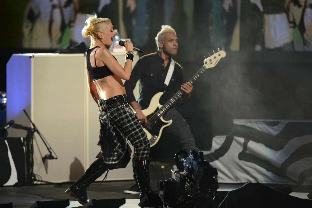 Gwen Stefani rocked out with her band, No Doubt, at the NFL Kickoff concert in NYC.