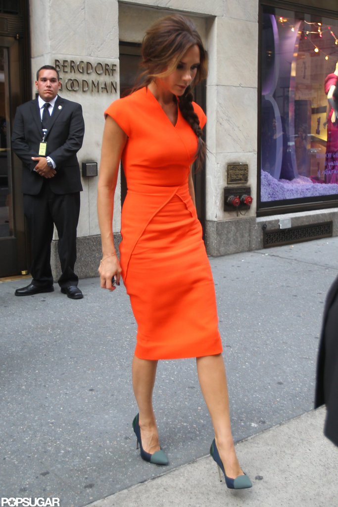 Victoria Beckham attended New York's Fashion's Night Out at Bergdorf Goodman.