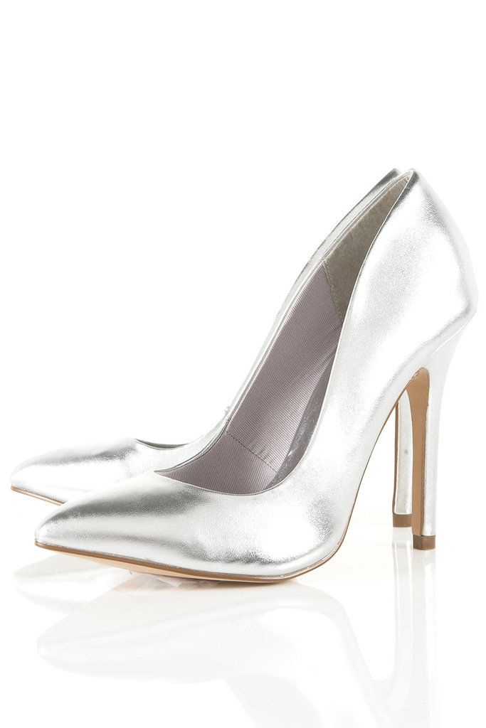 Don't save these metallic stunners for nights-out only: they'd upgrade a pair of jeans and a button-down for a more casual look, too.  Topshop Game Metallic Pointed Courts ($96)