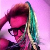 Brad Goreski tried on a colorful hairpiece. Source: Instagram user mrbradgoreski