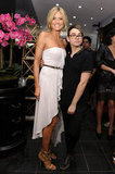 Project Runway pals Heidi Klum and designer alum Christian Siriano struck a pose at Christian Siriano's boutique opening.