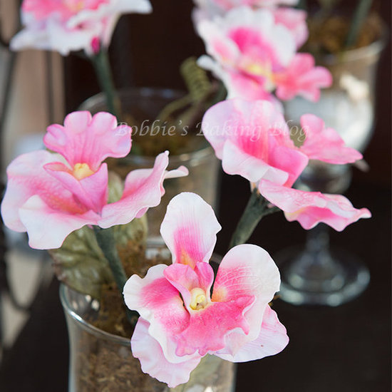 sugar paste orchids