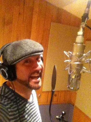 Joey Fatone headed to the studio for some voice-over work. Source: Twitter user realjoeyfatone