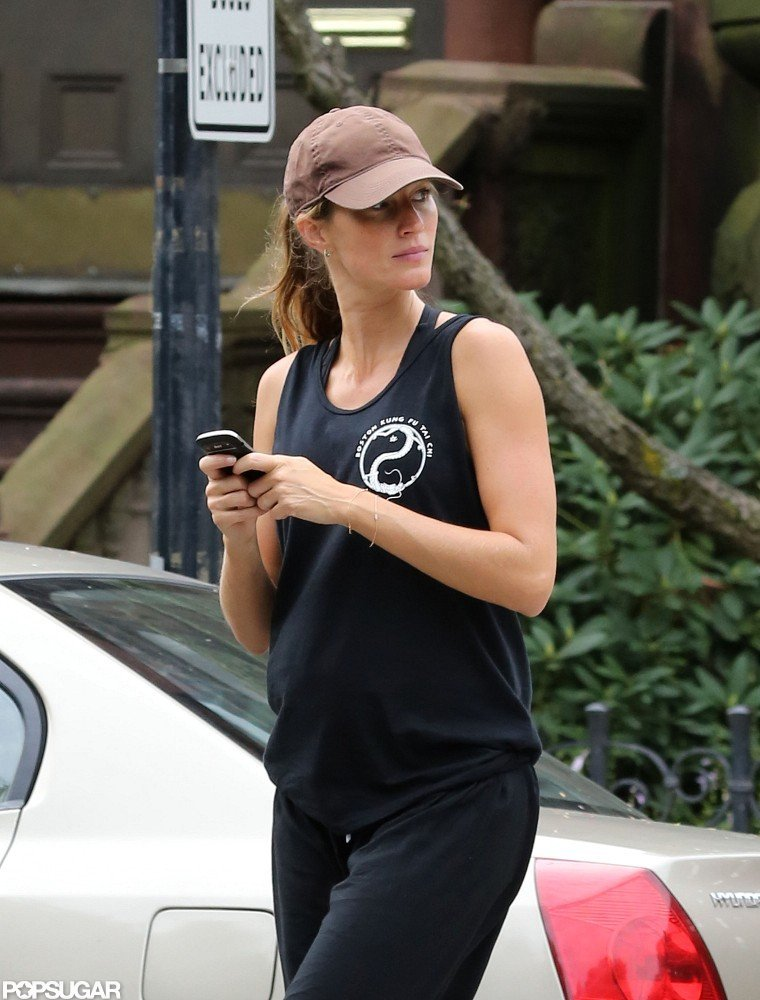 Gisele Bundchen walked in Boston after hitting the gym.