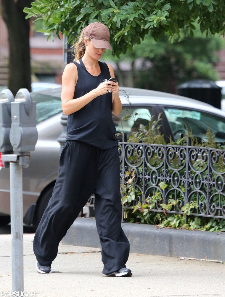 Gisele Bundchen took to the sidewalks in Boston.