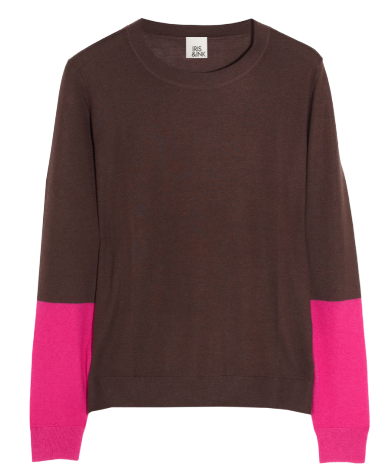 Iris & Ink Colorblock Sweater ($198)