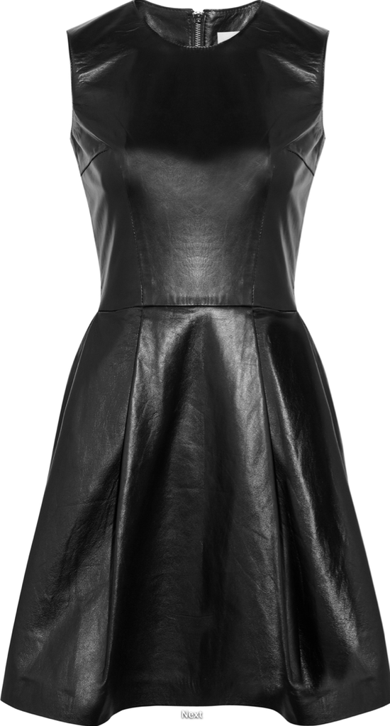Iris & Ink Leather Cocktail Dress ($520)