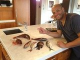 Mel B snapped this pic of husband Stephen Belafonte looking very pleased with his catch. Source: Twitter user OfficialMelB