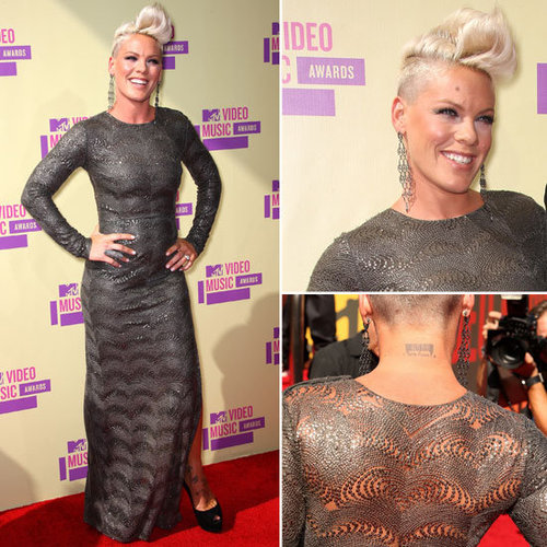 Pictures of Pink in Stella McCartney Dress on the Red Carpet at the 2012 MTV Video Music Awards