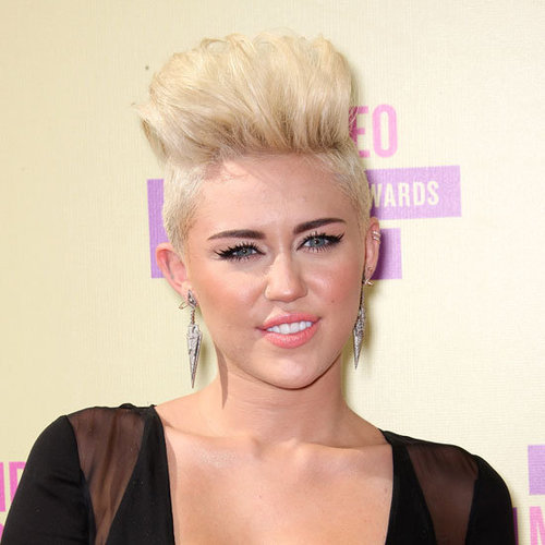 Miley Cyrus and Her Short Undercut Hair at the 2012 MTV Video Music Awards