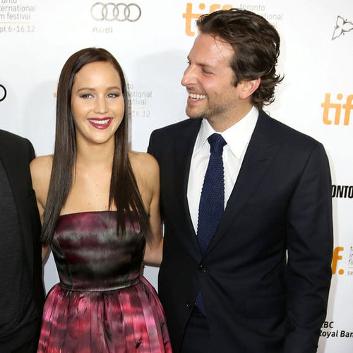 Jennifer Lawrence In Dior Couture With Dark Hair And Bradley Cooper At Toronto