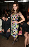 Kelly Brook chose florals for Moschino Cheap & Chic.